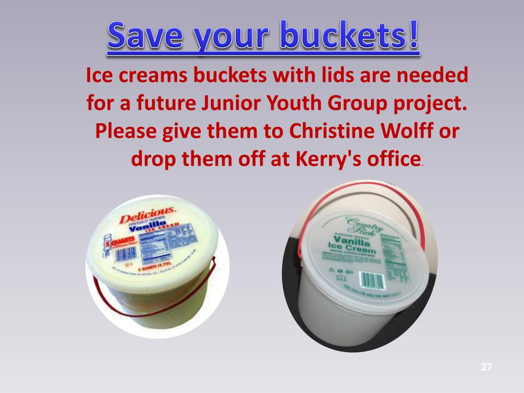 Save your buckets!