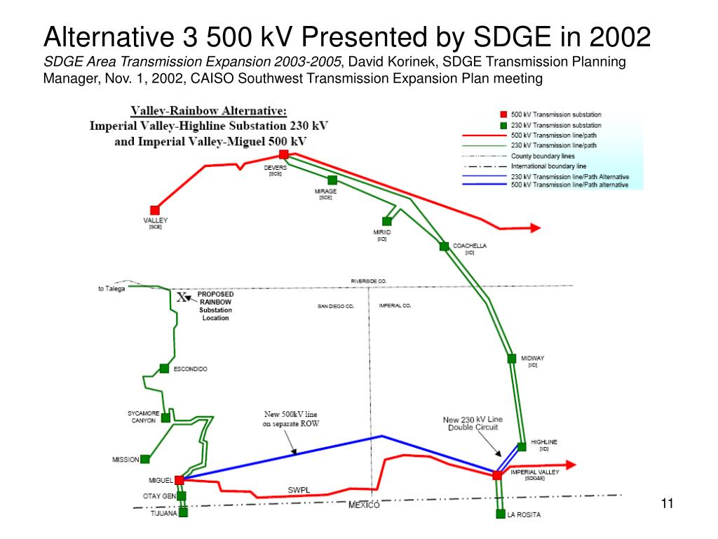 Alternative 3 500 kV Presented by SDGE in 2002