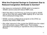 what are projected savings to customers due to reduced congestion attributed to sunrise