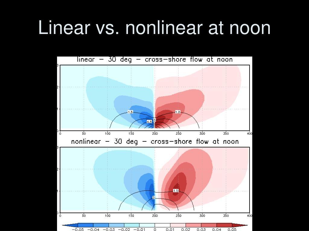 Linear vs. nonlinear at noon