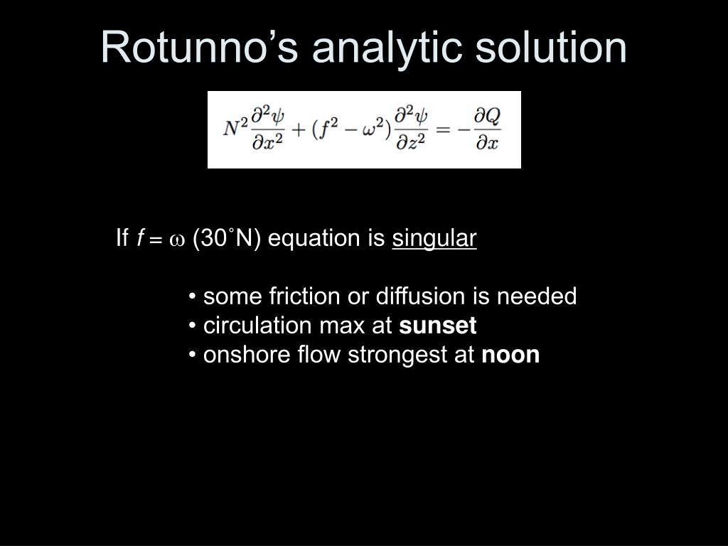 Rotunno's analytic solution