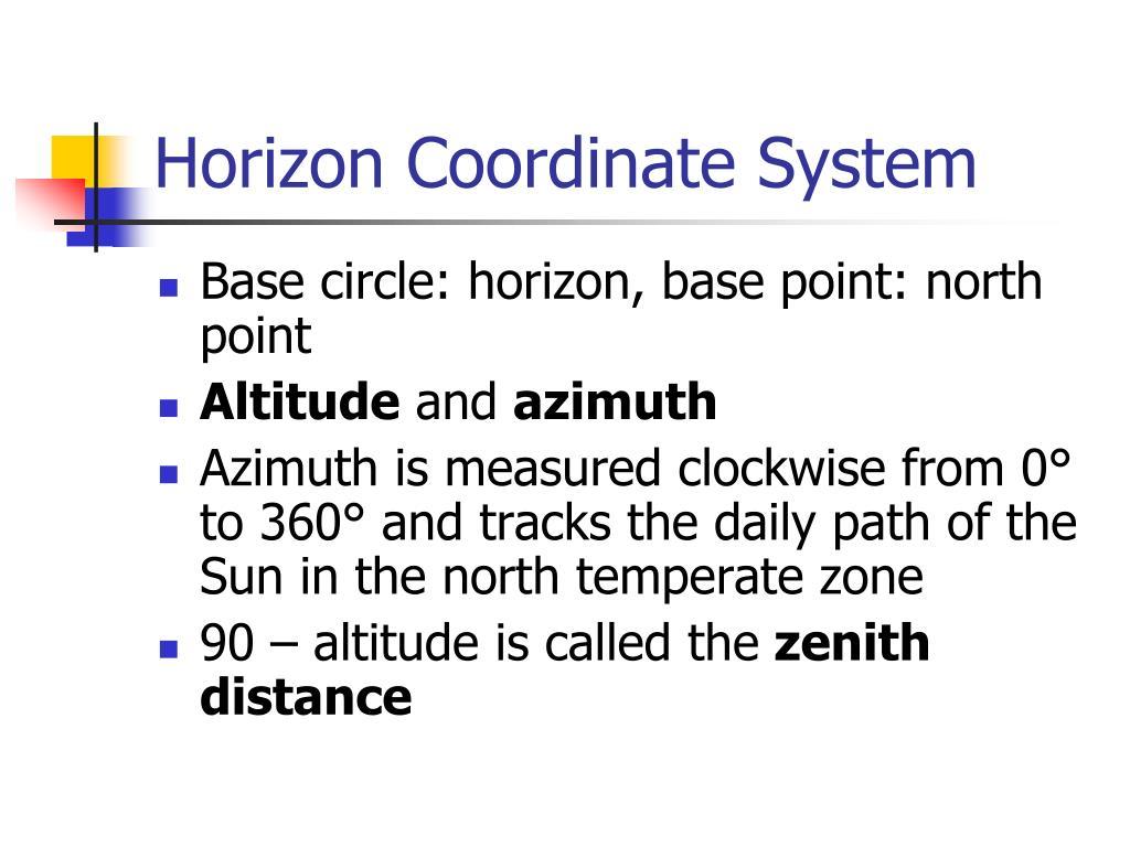 Horizon Coordinate System