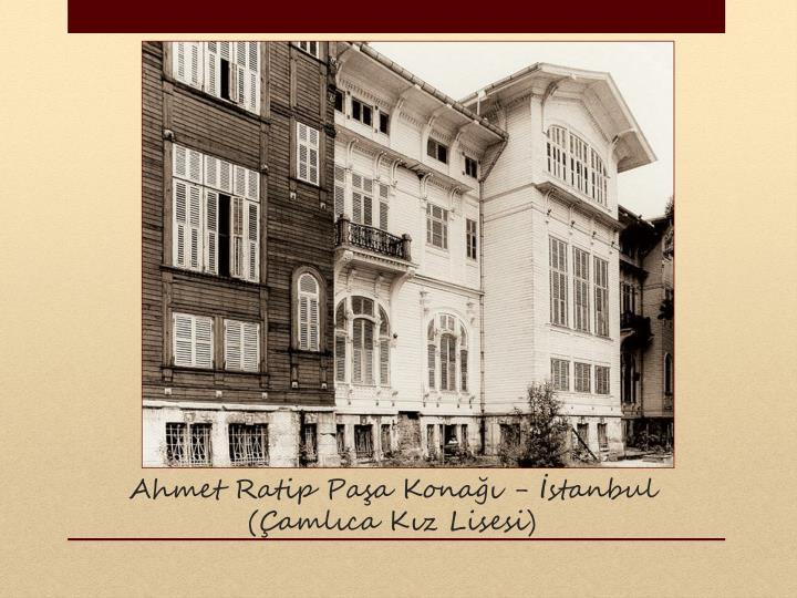 Ahmet Ratip Paa Kona - stanbul
