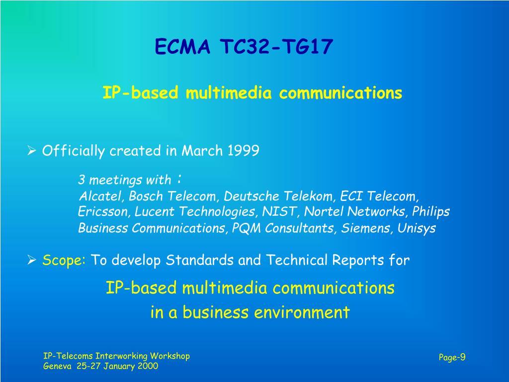 ECMA TC32-TG17