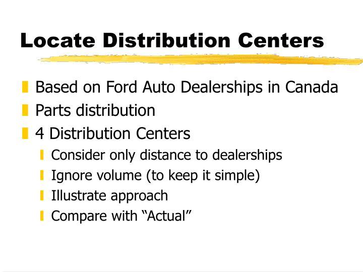 Locate Distribution Centers