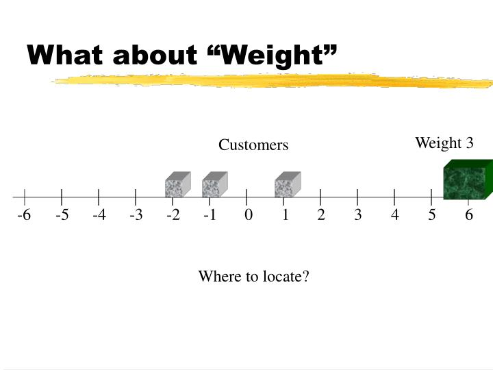 """What about """"Weight"""""""