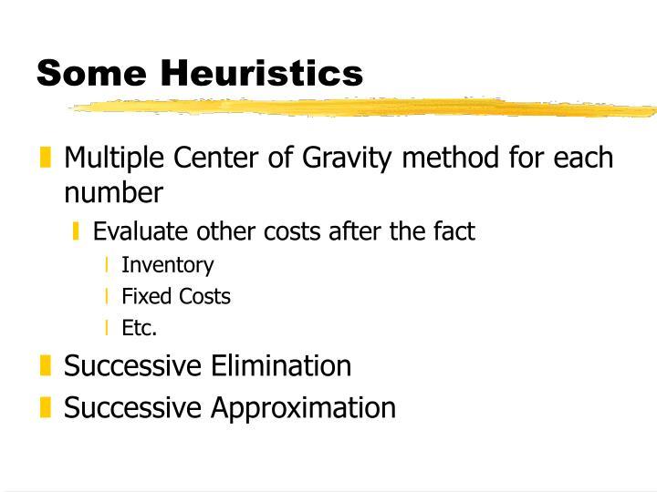 Some Heuristics