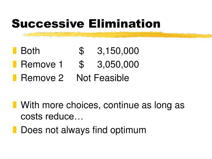 Successive Elimination