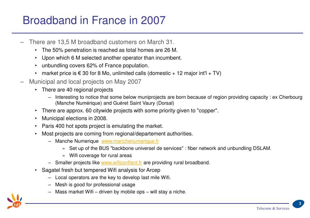 Broadband in France in 2007