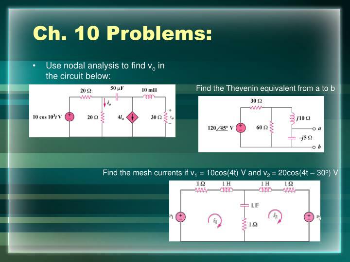 Ch. 10 Problems: