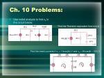 ch 10 problems