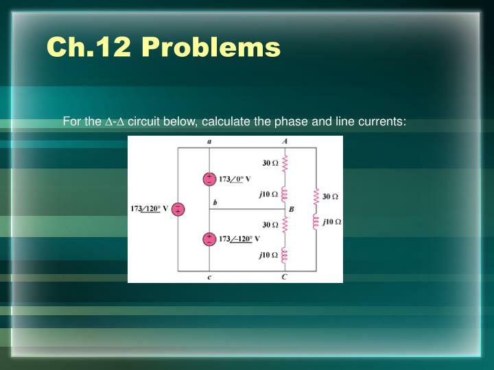 Ch.12 Problems