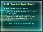ch 13 magnetically coupled circuits