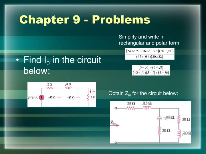 Chapter 9 - Problems