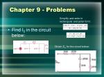 chapter 9 problems
