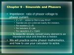 chapter 9 sinusoids and phasors