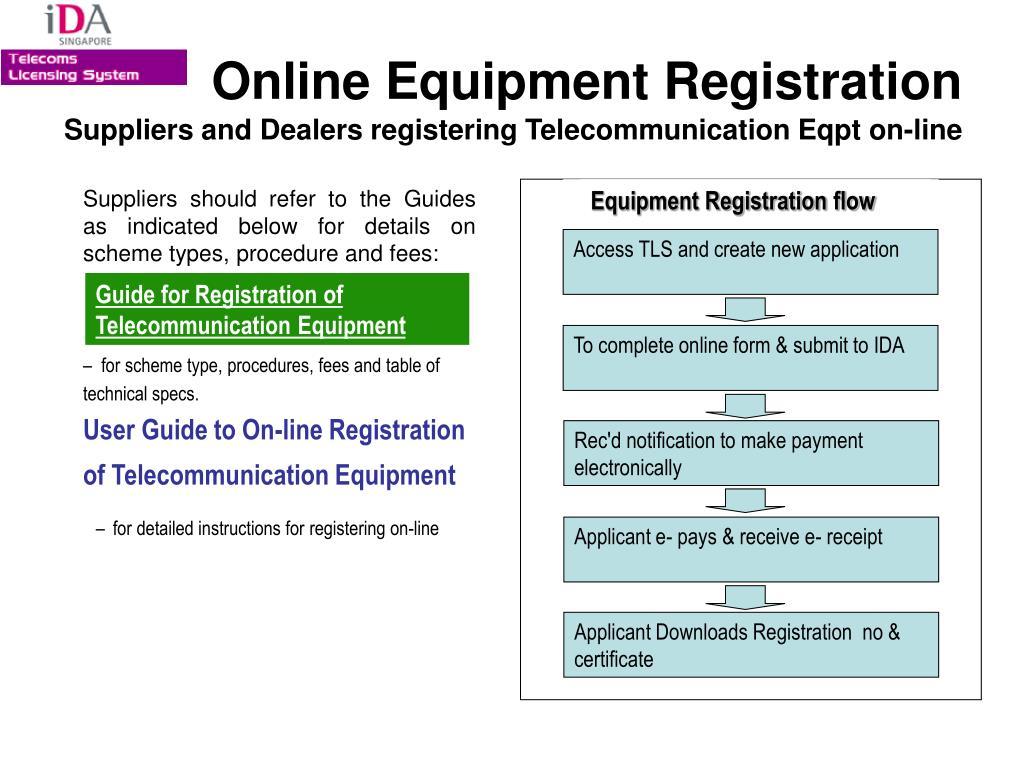 Equipment Registration flow