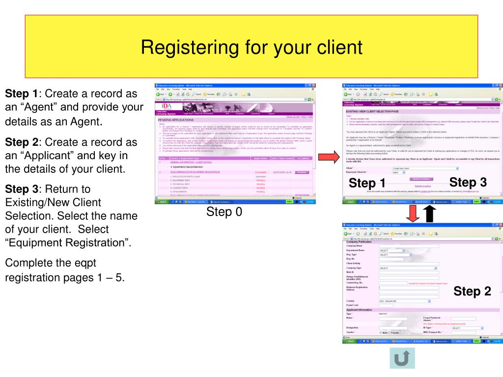 Registering for your client