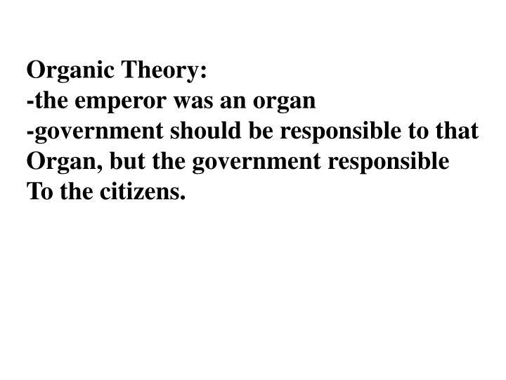 Organic Theory: