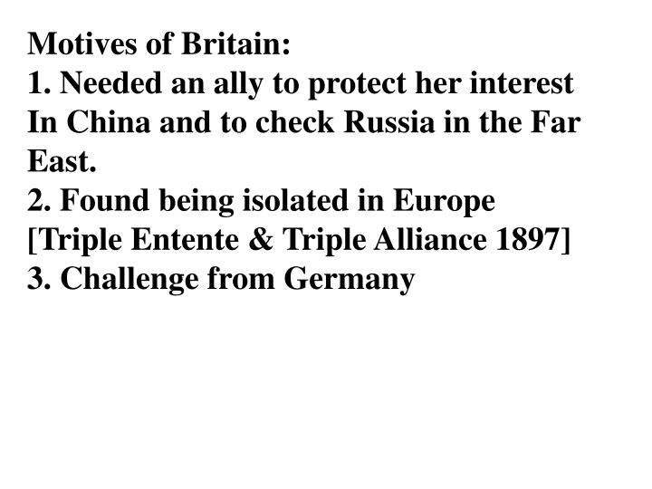 Motives of Britain: