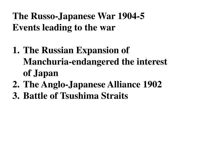The Russo-Japanese War 1904-5