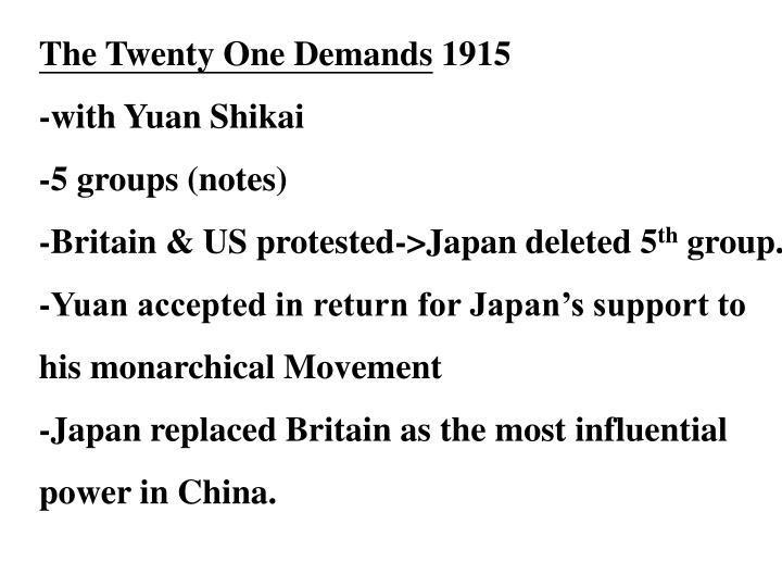 The Twenty One Demands