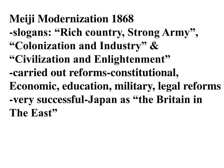 Meiji Modernization 1868