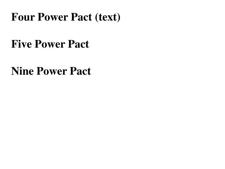 Four Power Pact (text)