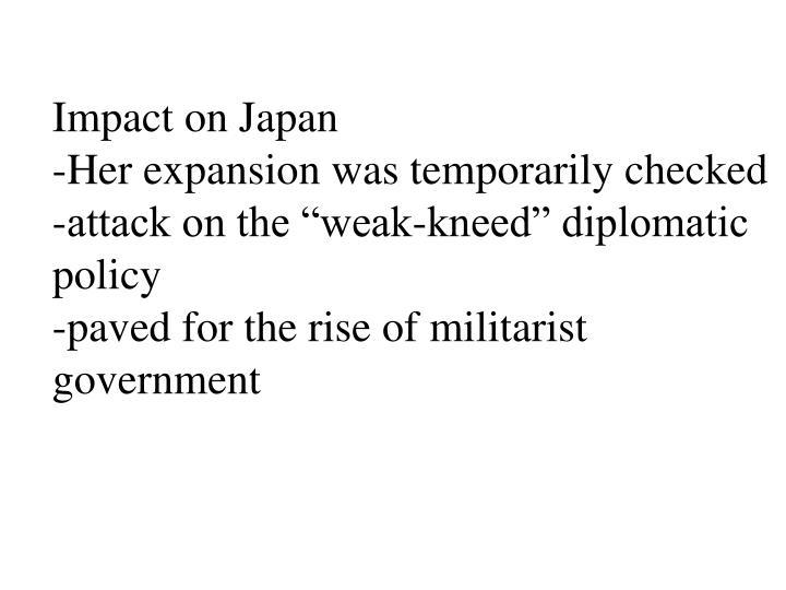 Impact on Japan