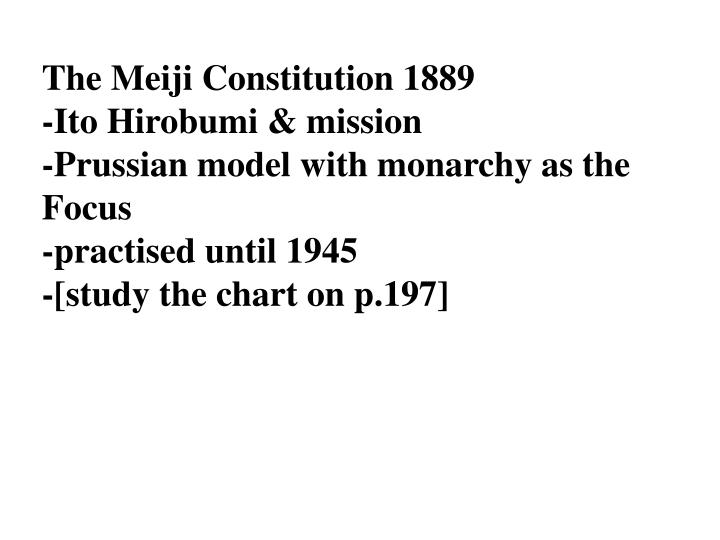 The Meiji Constitution 1889