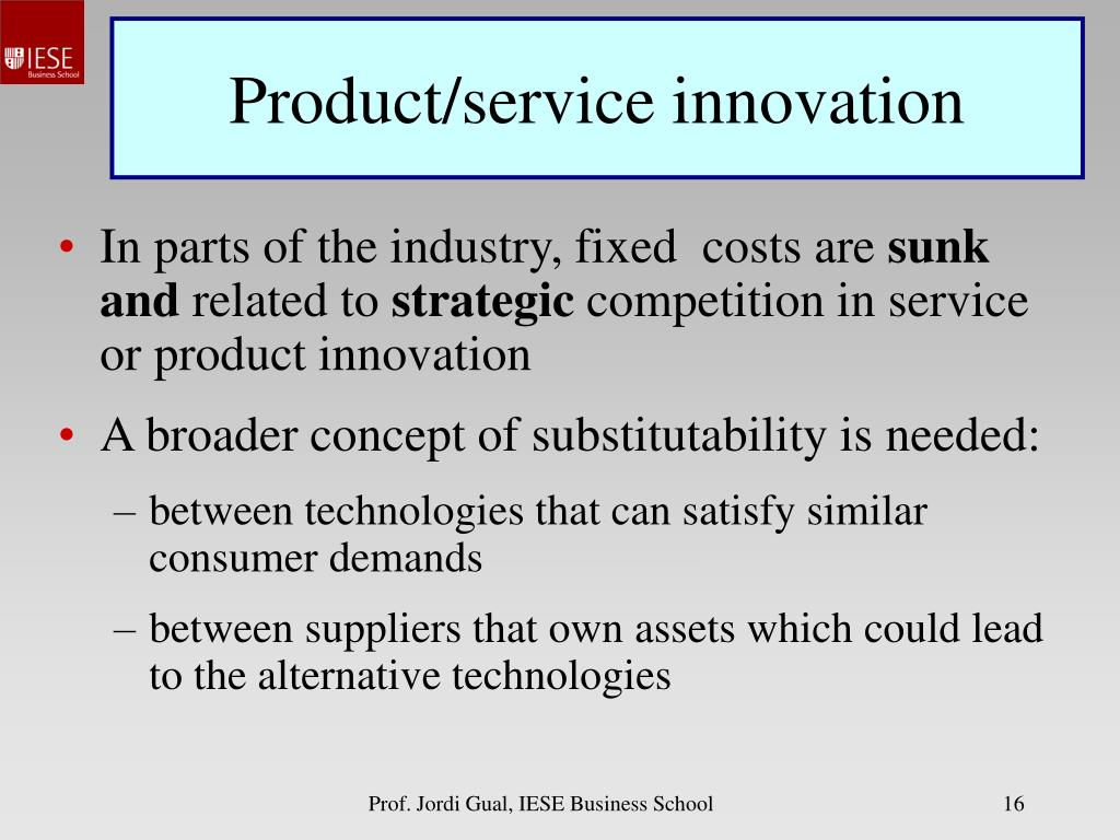 Product/service innovation