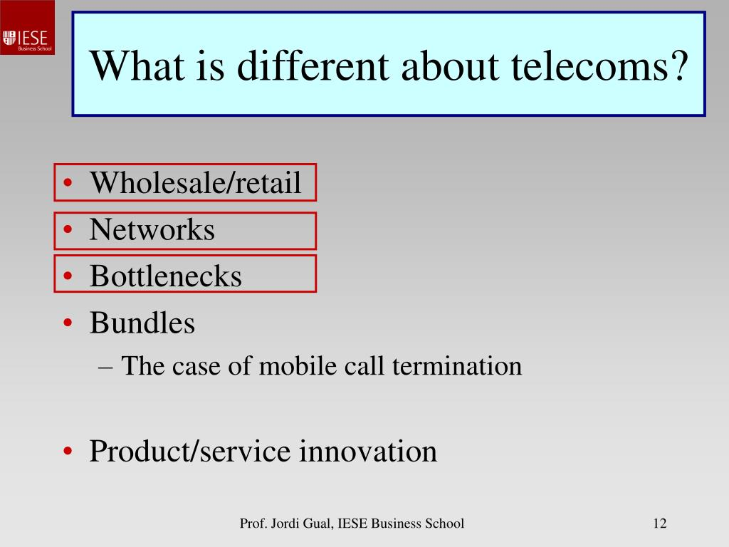 What is different about telecoms?