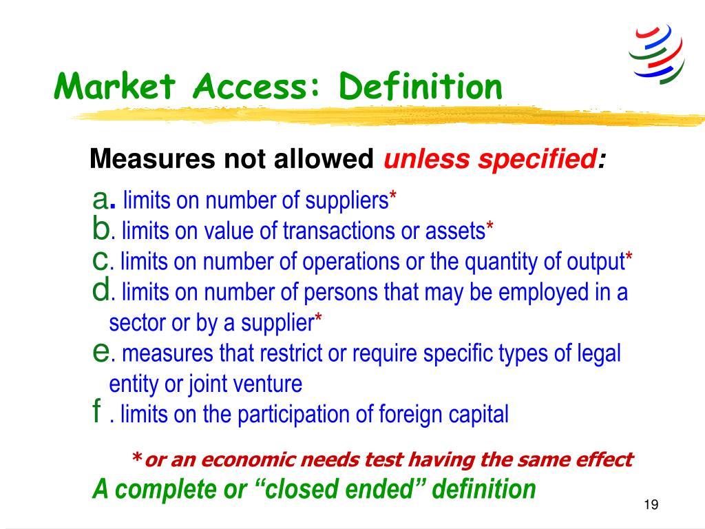 Market Access: Definition
