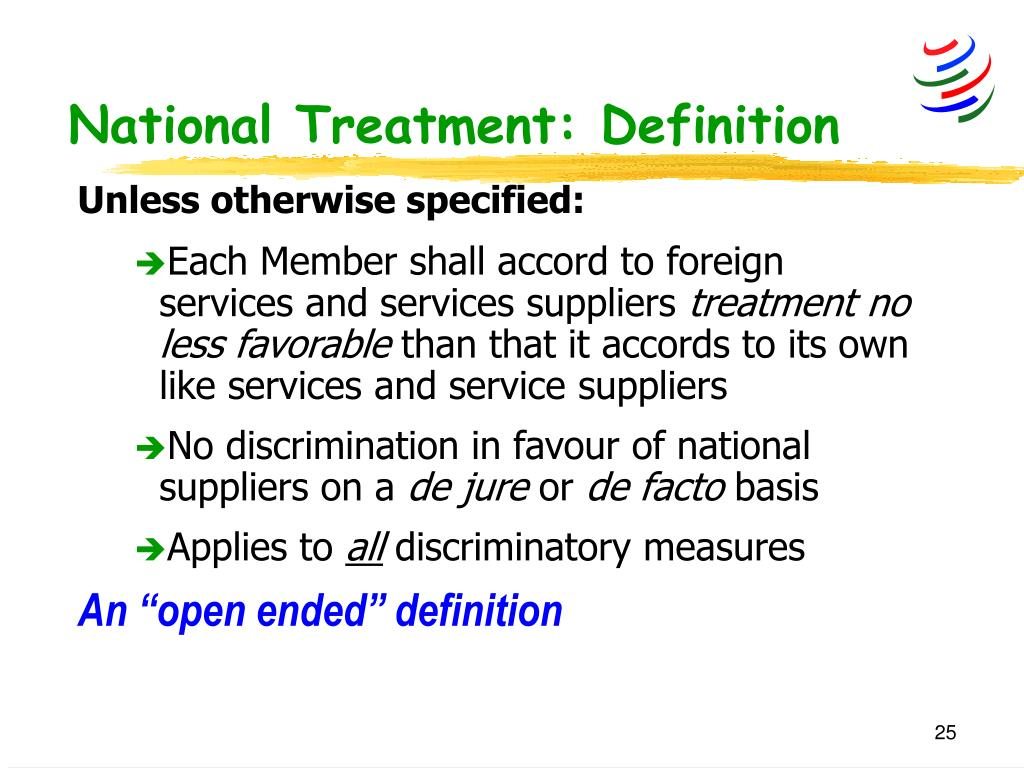 National Treatment: Definition