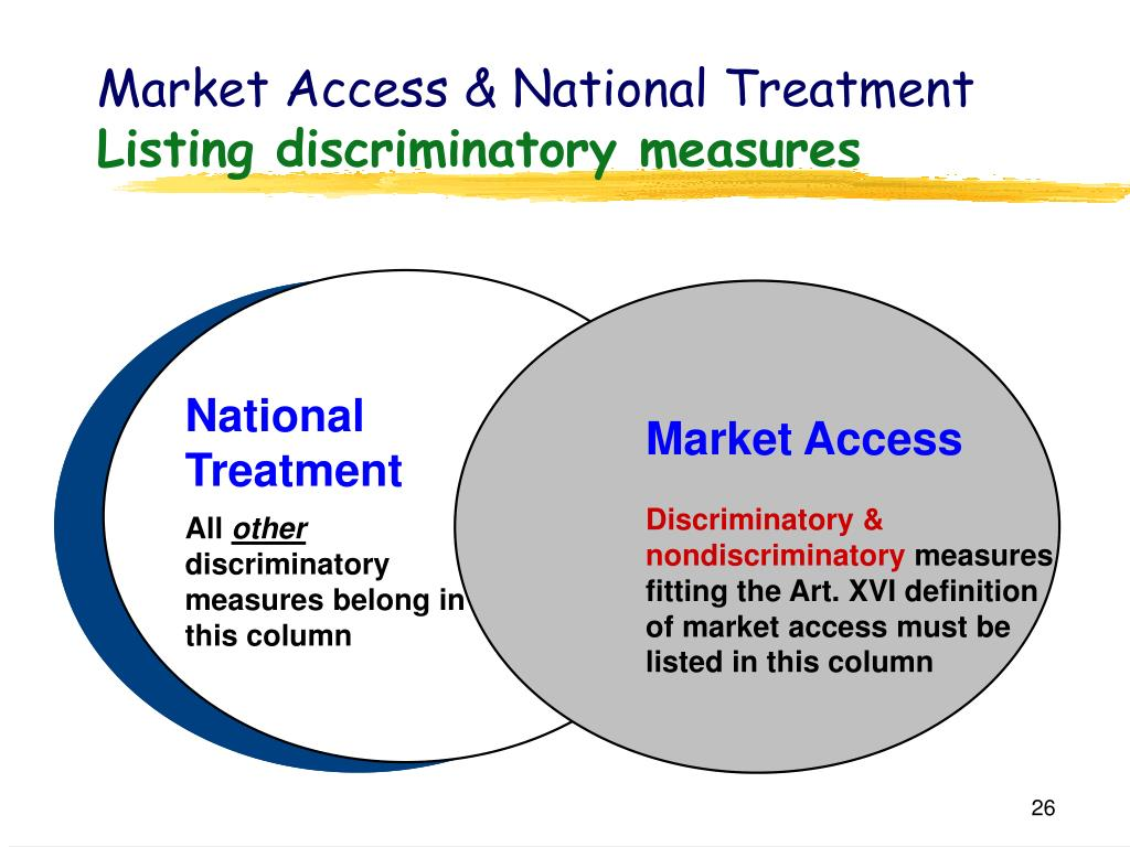 Market Access & National Treatment