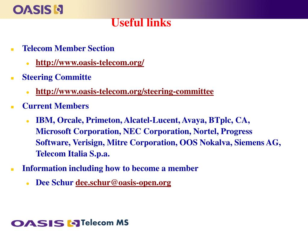 Telecom Member Section