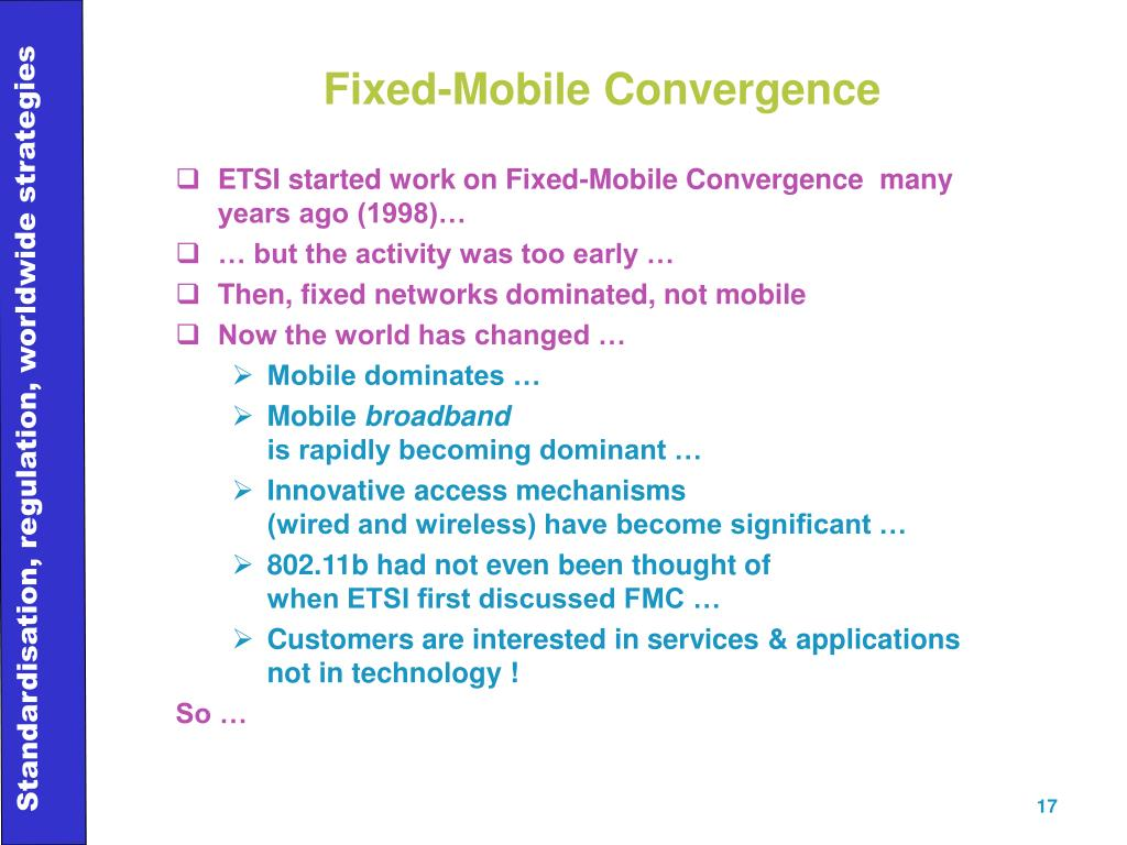 Fixed-Mobile Convergence