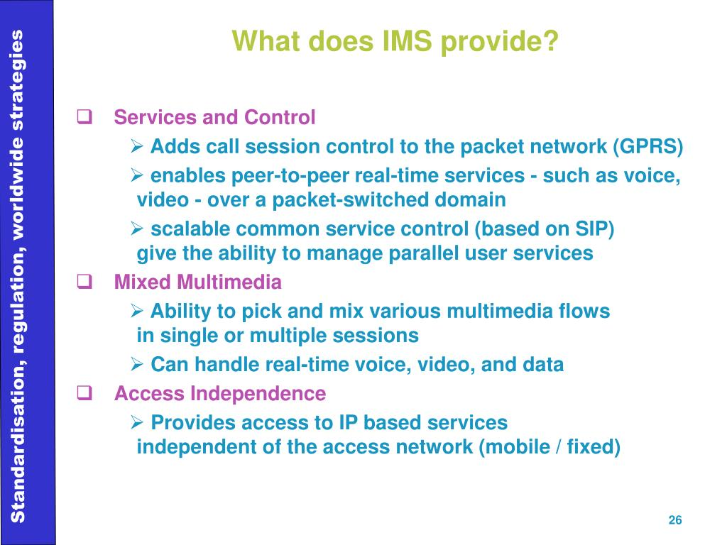 What does IMS provide?