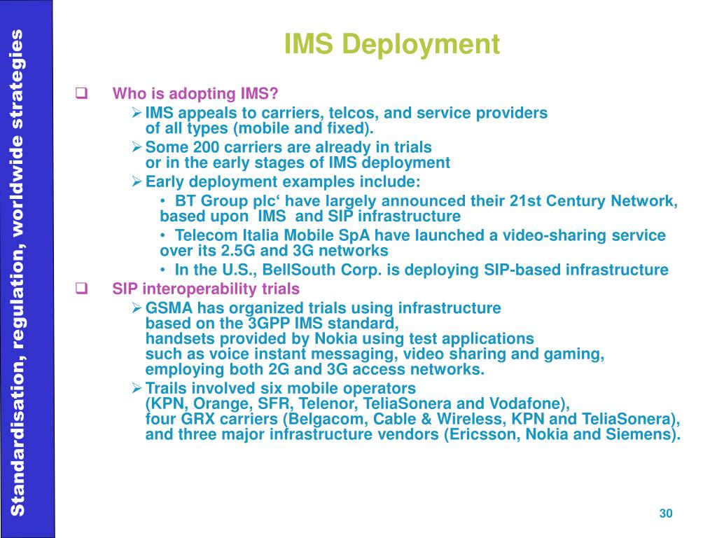IMS Deployment