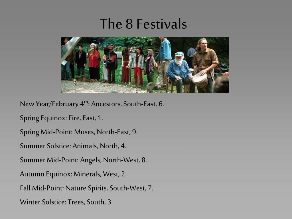 The 8 Festivals