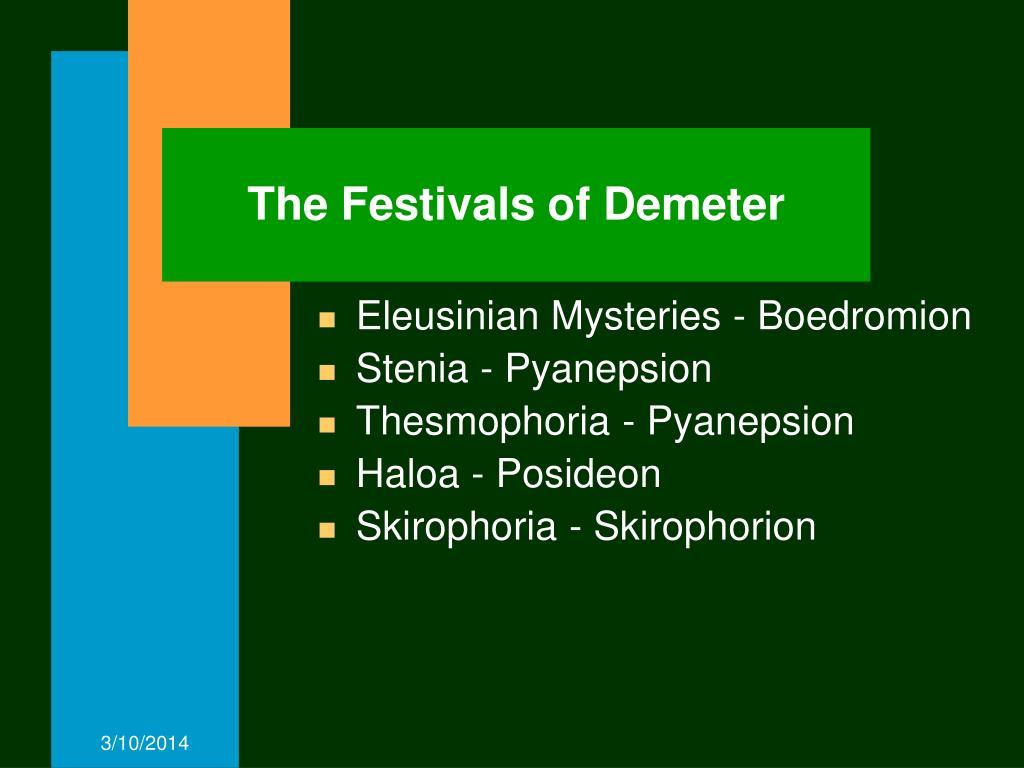 The Festivals of Demeter