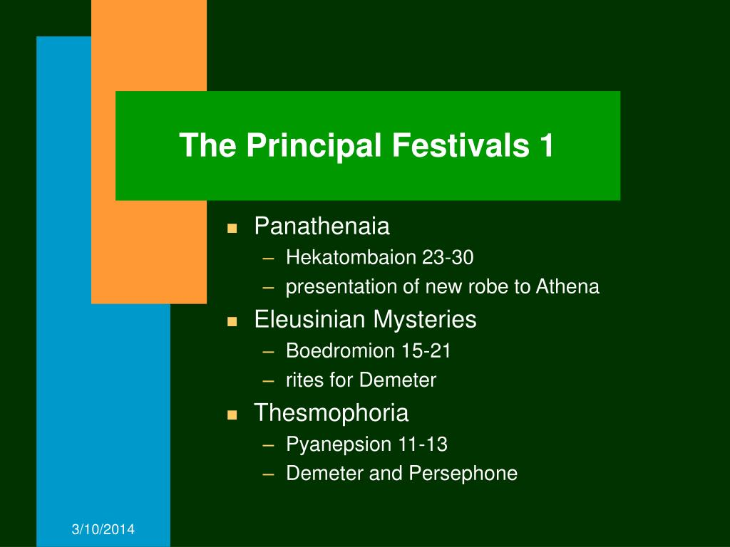 The Principal Festivals 1