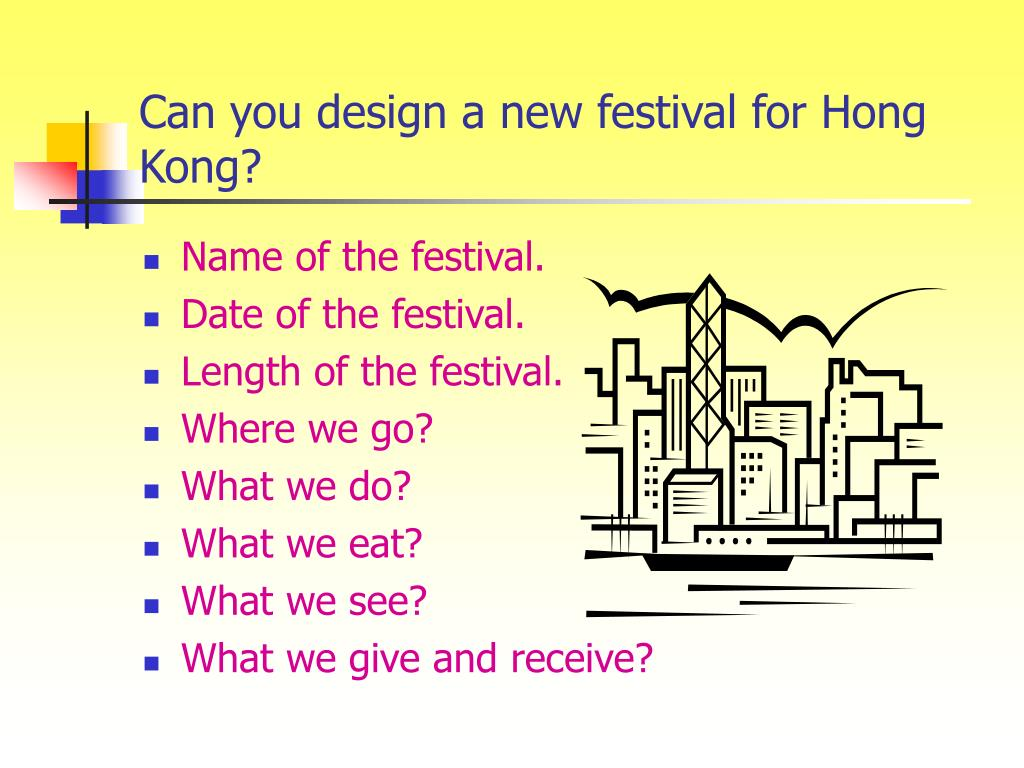 Can you design a new festival for Hong Kong?
