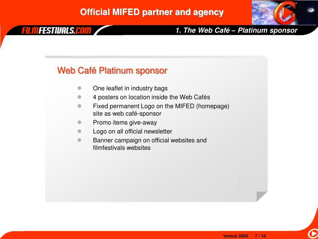 1. The Web Café – Platinum sponsor