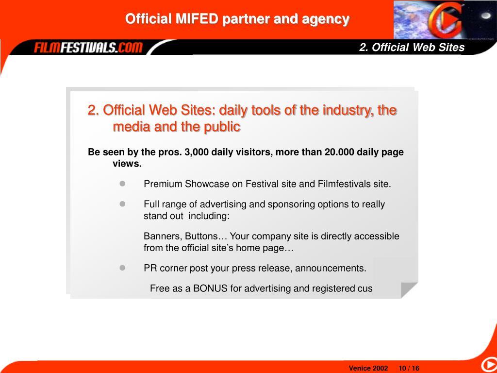 2. Official Web Sites