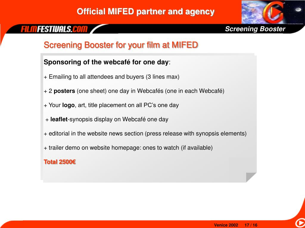 Screening Booster
