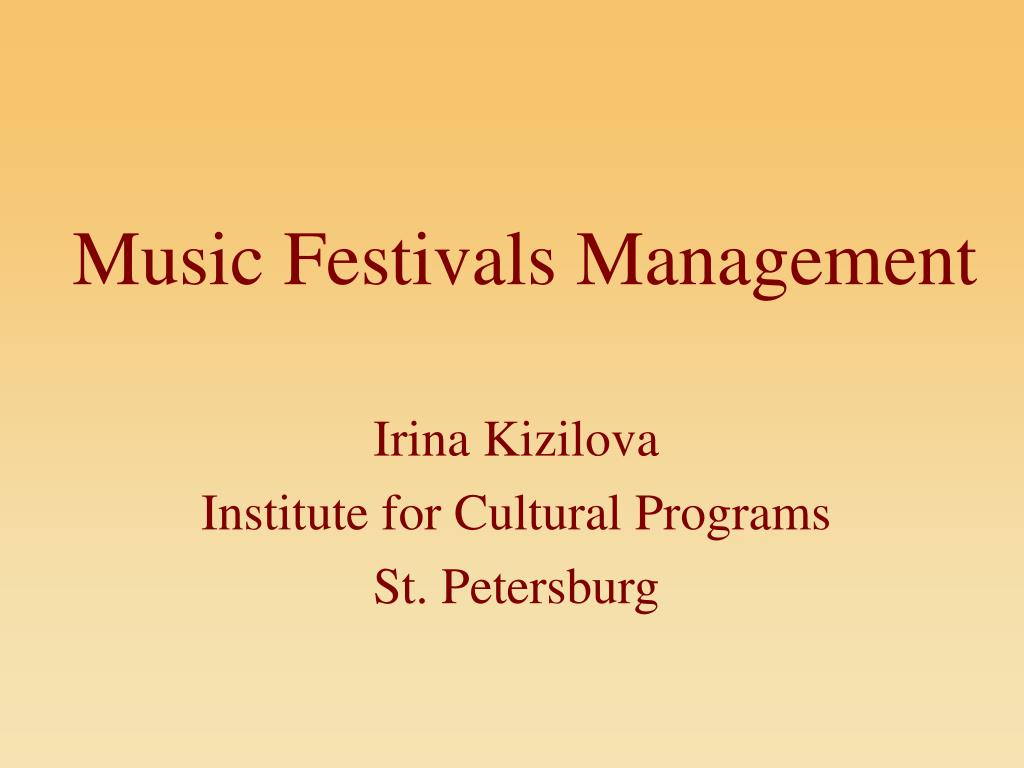 Music Festivals Management