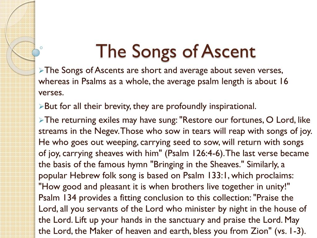 The Songs of Ascent