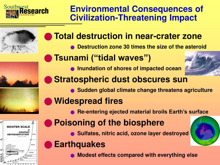 Environmental Consequences of Civilization-Threatening Impact