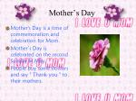 mother s day